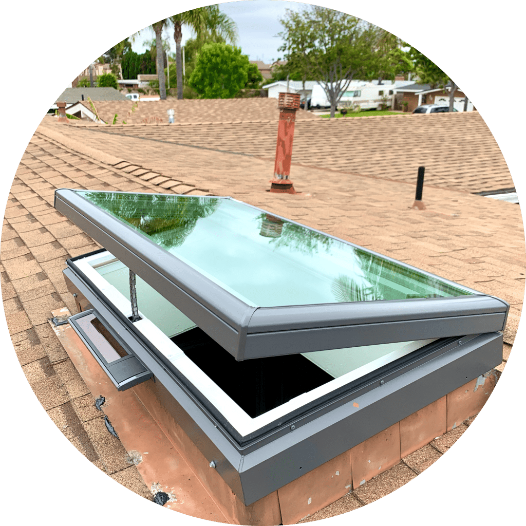 Solar Venting Glass Skylight