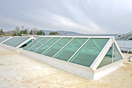 Skylight Guide - Double Pitch Skylight With Glazed Ends