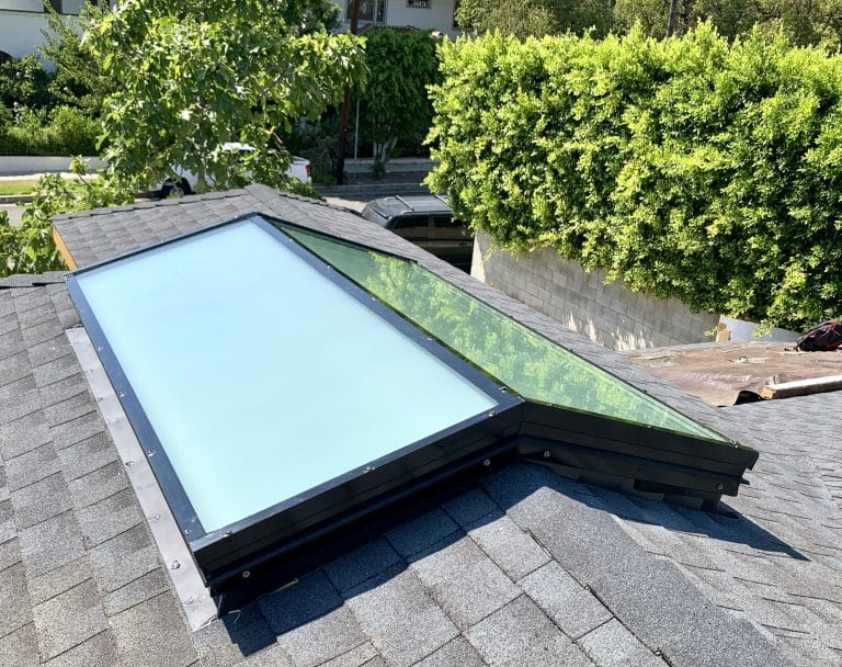 Skylight Guide - White Frosted Glass Ridge Skylight